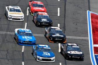 Noah Gragson, JR Motorsports, Chevrolet Camaro Cessna and John Hunter Nemechek, GMS Racing, Chevrolet Camaro Fire Alarm Services, INC