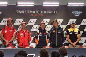 Baldassarri, Danilo Petrucci, Ducati Team, Andrea Dovizioso, Ducati Team, Marc Marquez, Repsol Honda Team, Valentino Rossi, Yamaha Factory Racing, Jack Miller, Pramac Racing