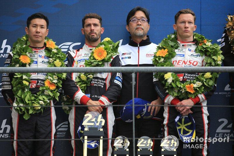 Los ganadores, #8 Toyota Gazoo Racing Toyota TS050: Sébastien Buemi, Kazuki Nakajima, Fernando Alonso