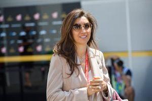 Fabiana wife of Bernie Ecclestone, Chairman Emiritus of Formula 1