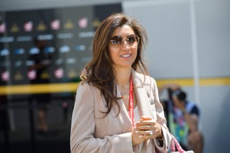 Fabiana wife of Bernie Ecclestone, Chairman Emiritus of Formula 1