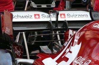 Alfa Romeo Racing rear wing technical detail