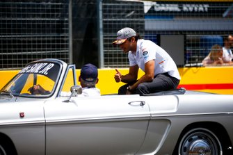 Carlos Sainz Jr., McLaren, in the drivers parade