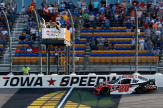 Christopher Bell, Joe Gibbs Racing, Toyota Supra Ruud drives under the checkered flag to win