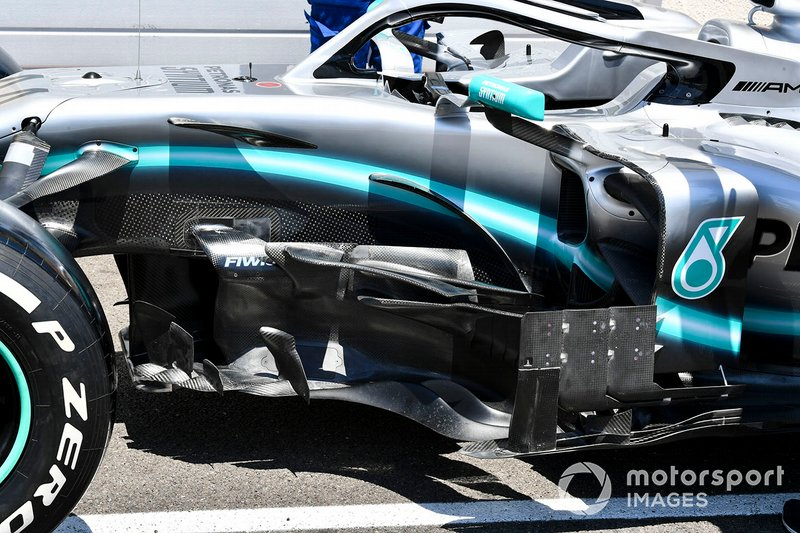 Bargeboard on Mercedes AMG F1 W10