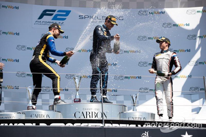 Sergio Sette Camara, Dams Luca Ghiotto, UNI Virtuosi Racing and Nyck De Vries, ART Grand Prix