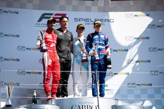 Jake Hughes, HWA RACELAB Jehan Daruvala, PREMA Racing and Robert Shwartzman, PREMA Racing