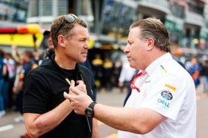 Tom Kristensen with Zak Brown, Executive Director, McLaren