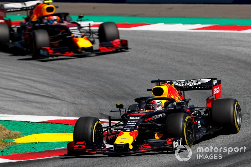 Max Verstappen, Red Bull Racing RB15, Pierre Gasly, Red Bull Racing RB15