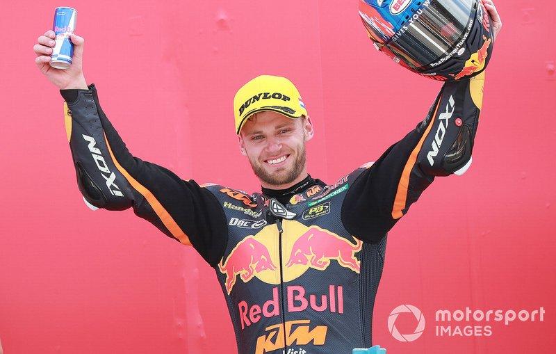 Podio: secondo posto Brad Binder, KTM Ajo