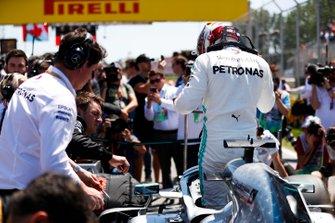 Lewis Hamilton, Mercedes AMG F1, on the grid
