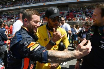 Paris St Germain and Brazil International football star Neymar on the grid