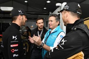 Laim Payne meets Jean-Eric Vergne, DS TECHEETAH, Andre Lotterer, DS TECHEETAH, Alejandro Agag, CEO, Formula E
