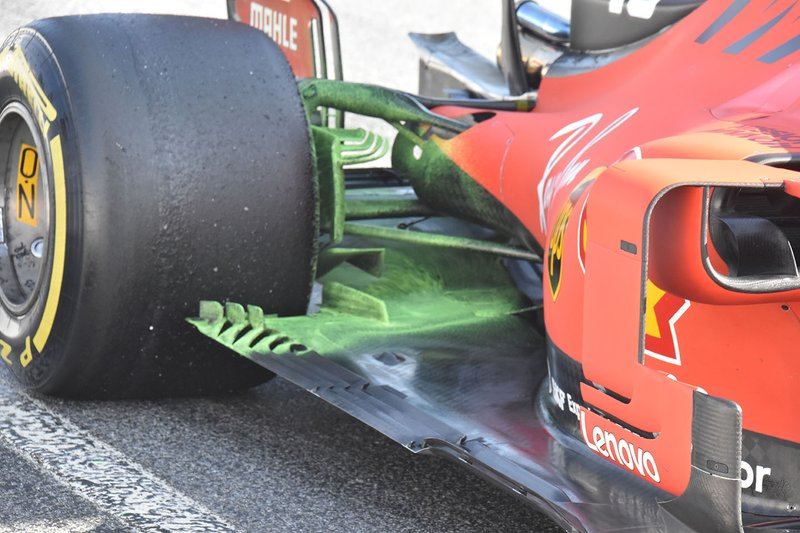 Detalle del suelo del Ferrari SF90