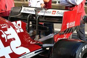 Alfa Romeo Racing C38, dettaglio dell'ala posteriore