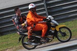 Pol Espargaro, Red Bull KTM Factory Racing, après sa chute