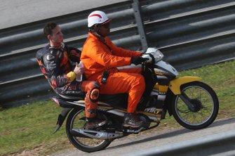 Pol Espargaro, Red Bull KTM Factory Racing after his crash