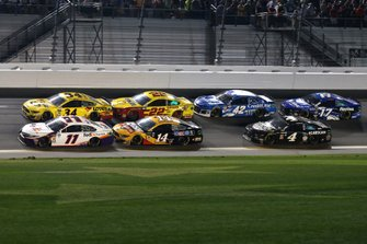 Denny Hamlin, Joe Gibbs Racing, Toyota Camry FedEx Express Michael McDowell, Front Row Motorsports, Ford Mustang Love's Travel Stops Clint Bowyer, Stewart-Haas Racing, Ford Mustang Rush Truck Centers/Mobil 1 Joey Logano, Team Penske, Ford Mustang Shell Pennzoil Kyle Larson, Chip Ganassi Racing, Chevrolet Camaro Credit One Bank Kevin Harvick, Stewart-Haas Racing, Ford Mustang Busch Beer Car2Can Ricky Stenhouse Jr., Roush Fenway Racing, Ford Mustang Fastenal
