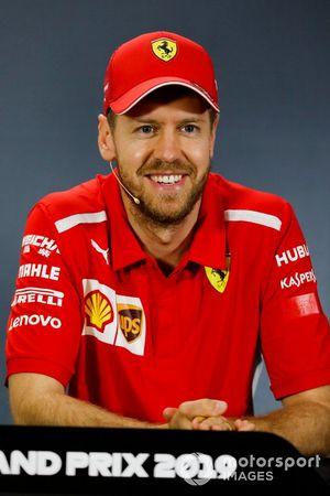 Sebastian Vettel, Ferrari in Press Conference