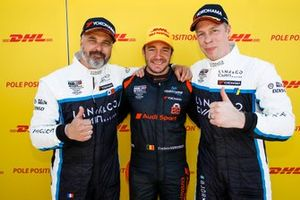 Top 3 na de kwalificatie: Polesitter Frédéric Vervisch, Comtoyou Team Audi Sport Audi RS 3 LMS, Yvan Muller, Cyan Racing Lynk & Co 03 TCR, Thed Björk, Cyan Racing Lynk & Co 03 TCR