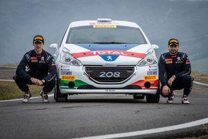 Nicolò Gonella e Tommaso Ciuffi con la Peugeot 208 R2B, Peugeot Sport Italia