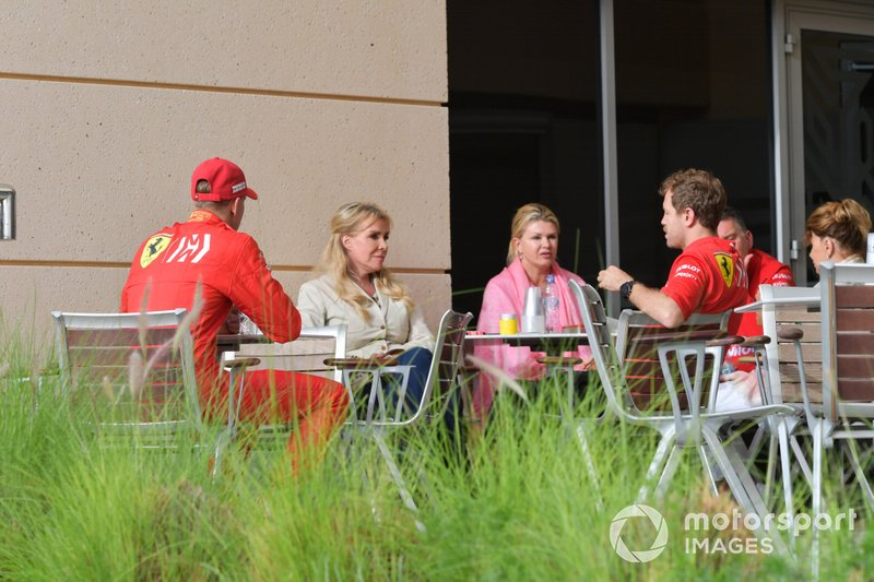 Sebastian Vettel, Ferrari y Mick Schumacher, Ferrari