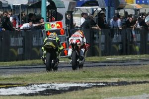Roberto Locatelli, Aprilia; Andrea Dovizioso, Honda