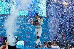 Podium : le vainqueur Lucas Di Grassi, Audi Sport ABT Schaeffler