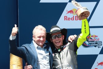 2. Valentino Rossi, Yamaha Factory Racing, mit Kevin Schwantz