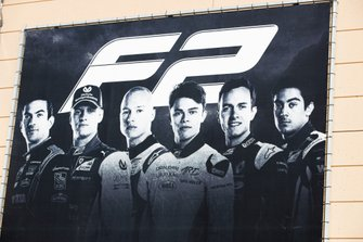 F2 Signage in the pitlane