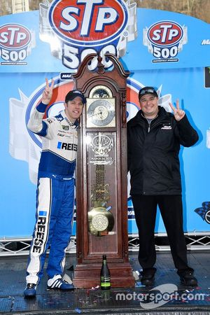 Coleman Pressley with driver Brad Keselowski in Victory Lane