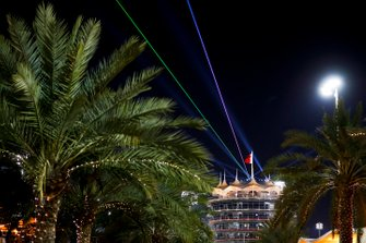 La tour de Bahreïn de nuit