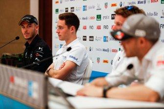 Andre Lotterer, DS TECHEETAH, Stoffel Vandoorne, HWA Racelab, Oliver Turvey, NIO Formula E Team, Edoardo Mortara, Venturi Formula E, in the press conference