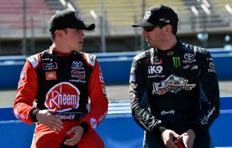 Christopher Bell, Joe Gibbs Racing, Toyota Supra Rheem and Kyle Busch, Joe Gibbs Racing, Toyota Supra iK9