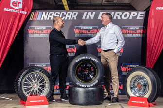 Jerome Galpin, President NASCAR Euroseries with Guy Frobisher