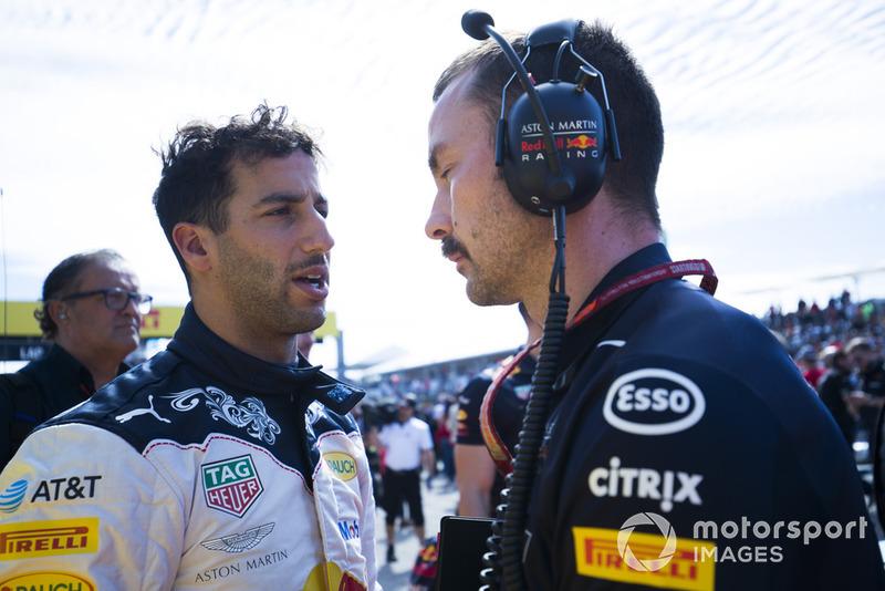 Daniel Ricciardo, Red Bull Racing, en la parilla