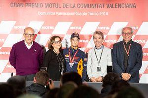 Dani Pedrosa, Repsol Honda Team, mit seinen Eltern