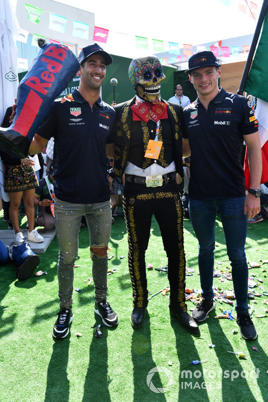 Daniel Ricciardo, Red Bull Racing and Max Verstappen, Red Bull Racing with Day of the Dead character