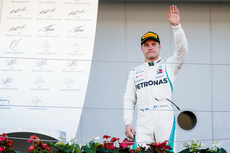 Second place Valtteri Bottas, Mercedes AMG F1, on the podium