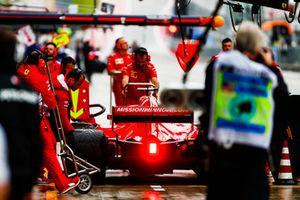 Sebastian Vettel, Ferrari SF71H, in the pit lane during practice