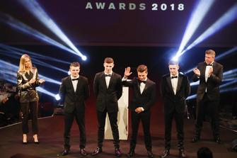McLaren Autosport BRDC Award nominees Jamie Caroline, Tom Gamble, Max Fewtrell and Kiern Jewiss