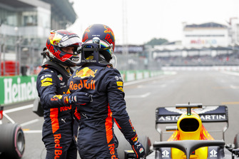 Max Verstappen, Red Bull Racing, en Daniel Ricciardo, Red Bull Racing