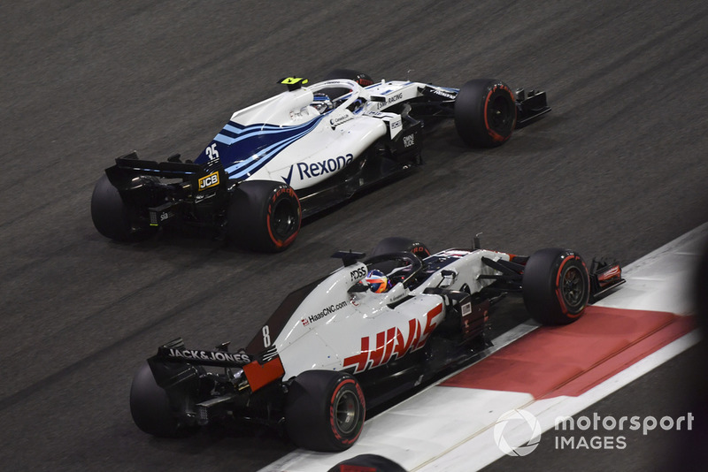 Romain Grosjean, Haas F1 Team VF-18 y Sergey Sirotkin, Williams FW41