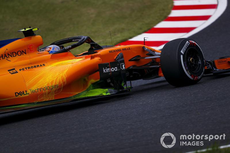 Lando Norris, McLaren MCL33 con Parafina