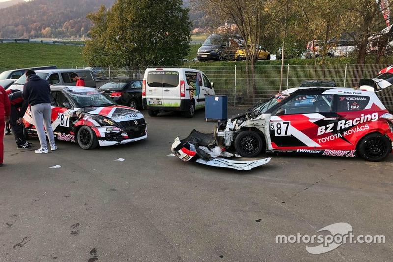 BZ Racing, Red Bull Ring, crash
