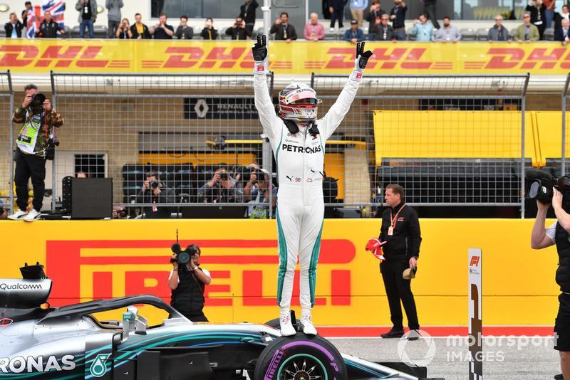 Le poleman Lewis Hamilton, Mercedes AMG F1 W09