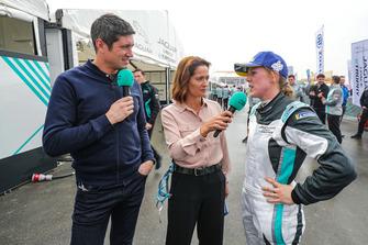 Presenters Vernon Kay, Amanda Stretton interview Alice Powell, Jaguar VIP car