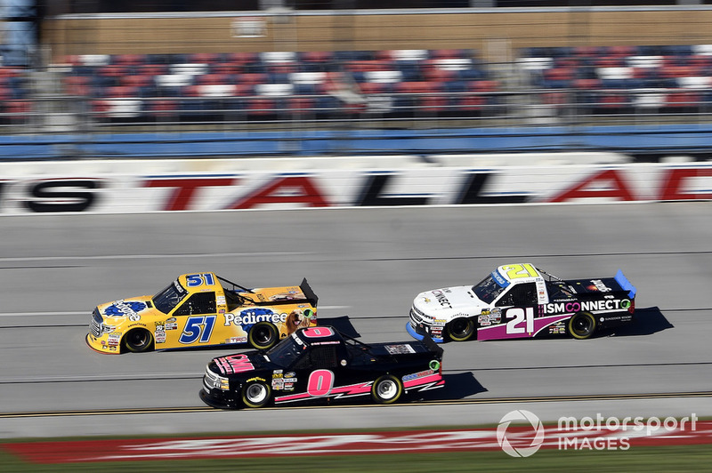 David Gilliland, Kyle Busch Motorsports, Toyota Tundra Pedigree, Ray Ciccarelli, Jennifer Jo Cobb Racing, Chevrolet Silverado CMI Installations Chevrolet, Johnny Sauter, GMS Racing, Chevrolet Silverado ISM Connect