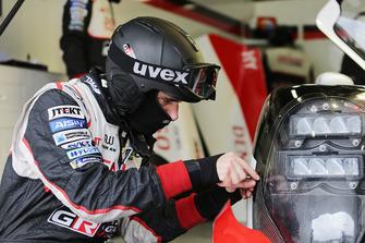 Toyota Gazoo Racing mechanic at work