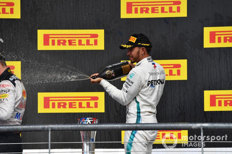 Podio: tercer lugar Lewis Hamilton, Mercedes AMG F1